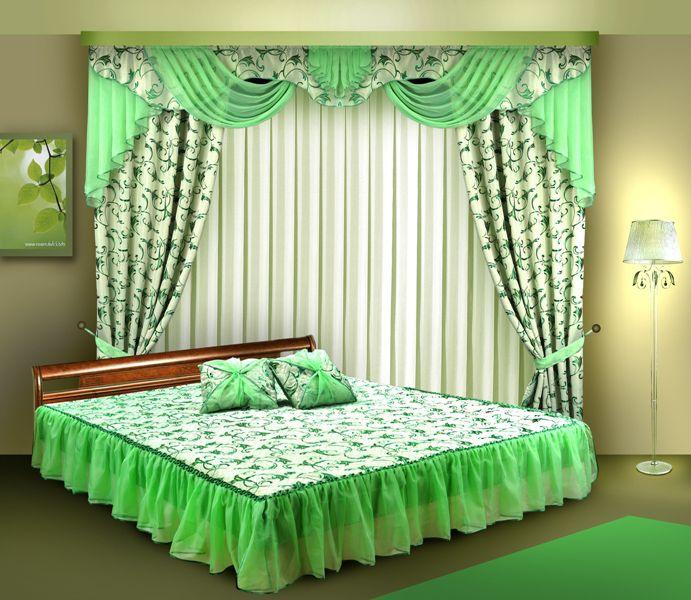 Комплект штор для спальни.